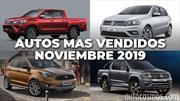 Los 10 autos más vendidos en Argentina en noviembre de 2019