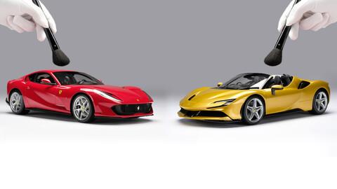 Estos Ferrari a escala valen casi lo que un modelo nuevo