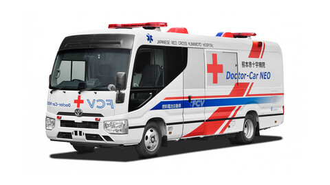 Toyota revela la primera clínica móvil impulsada por pilas de hidrógeno para la Cruz Roja