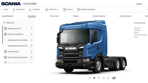 Scania permite configurar el camión de tus sueños