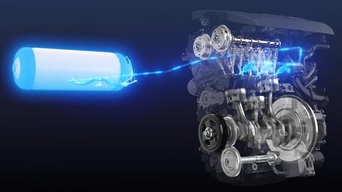 Toyota prepara un motor de combustión interna que usa hidrógeno en lugar de gasolina