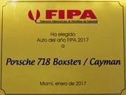 """Porsche 718 Boxster y Cayman, """"Auto del Año 2017 para la FIPA"""