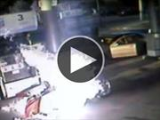 Video: arde una Harley-Davidson