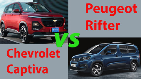 Peugeot Rifter vs Chevrolet Captiva, ¿cuál es mejor?