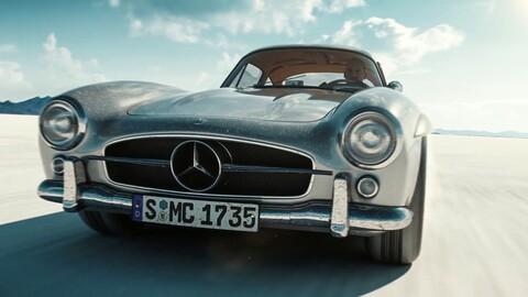 """Una impresionante animación del icónico Mercedes 300 SL """"Alas de gaviota"""""""