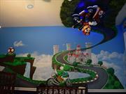 Transforma la habitación para su hijo en una pista de Mario Kart