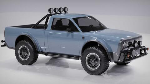 Alpha Wolf: un pickup eléctrico de estilo retro y con grandes capacidades off-road