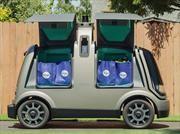 Este peculiar vehículo entrega pedidos a domicilio de manera autónoma