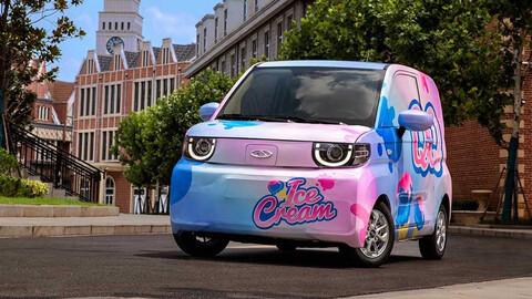 El nuevo Chery IQ es un auto eléctrico y helado