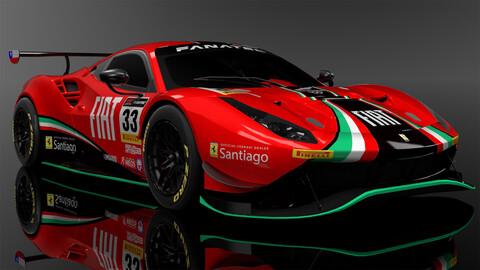 Así se ve la nueva Ferrari 488 GT3 Evo que usará el Benja Hites este año en Europa