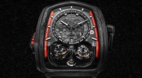 Este reloj está inspirado en el Bugatti Chiron Super Sport 300+