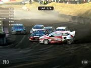 Kevin Eriksson se roba la final de Rally Cross con espectacular maniobra