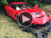 Video: Choca un Chevrolet Corvette Z06 contra un árbol