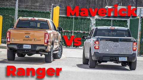 Ford Maverick Vs. Ranger: Esta foto espía muestra las diferencias de tamaño