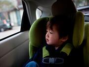 ¿Amarrar a un niño con una correa era lo más seguro para viajar?
