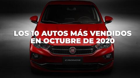 Top 10 autos más vendidos de Argentina en octubre de 2020