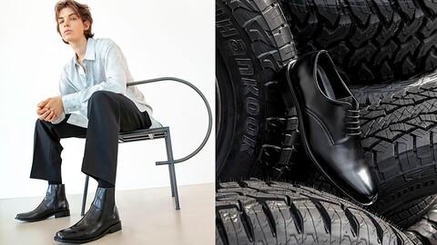 Hankook presenta calzado fabricado con llantas recicladas