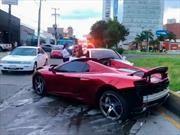 ¡Ups! Mexicano choca su McLaren 650S Spider y no traía seguro