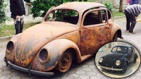 El cuarto Escarabajo más viejo del mundo llegó a estar oxidado y ahora tiene un precio sideral