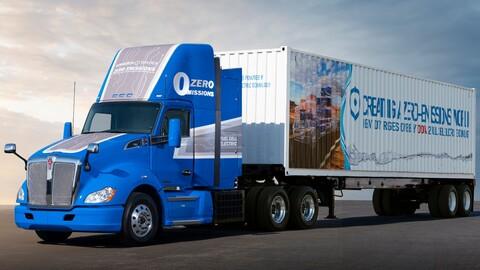 Toyota presentó otro camión con acoplado de hidrógeno