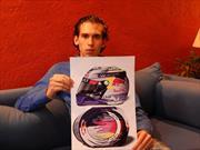 Un mexicano diseña el casco que Vettel usó en el GP de Abu Dhabi