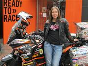 Motociclista ucraniana nos cuenta su historia