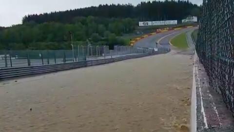 Insólito: Spa-Francorchamps bajo el agua