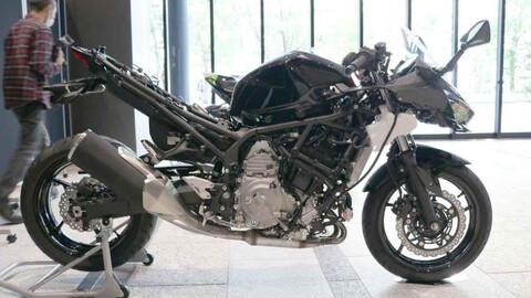 Kawasaki tiene lista su moto híbrida