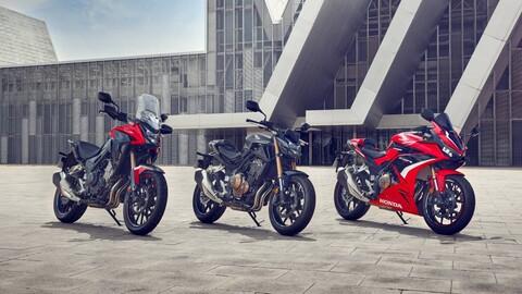 La gama CB500 de Honda recibe mejoras mecánicas