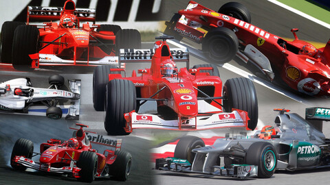 La historia de Schumacher en la F1 a través de sus autos (Parte II)
