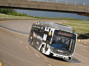 Autobús alimentado con metano obtiene récord de velocidad