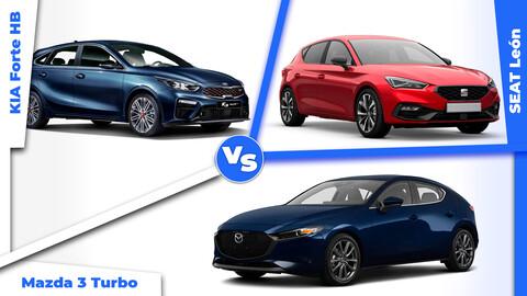 SEAT León, KIA Forte HB & Mazda 3 Turbo, los hatchbacks del momento ¿Cuál es mejor?