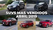 Los 10 SUVs más vendidos en abril 2019