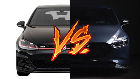 Mazda3 Turbo contra Volkswagen Golf GTI ¿cuál es el mejor deportivo de uso diario?