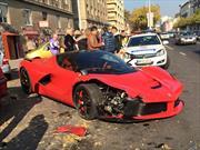 Chocan un Ferrari LaFerrari en Hungria
