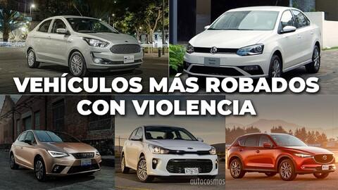 Los autos más robados con violencia de julio 2019 a junio 2020 en México