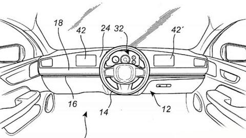 Volvo registra un volante que se mueve de derecha a izquierda