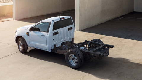 La Ford Ranger también contará con una versión chasis-cabina, para el mercado europeo