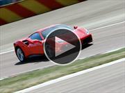 Video: Ferrari 488 GTB derrocha poderío en la pista de Fiorano