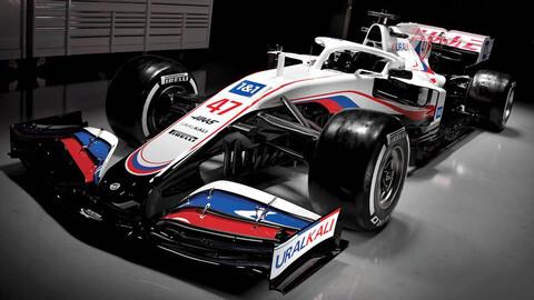 F1 2021: Haas VF-21 emerge con los colores de Rusia