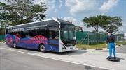 Los buses autónomos de Volvo comienzan pruebas en Singapur