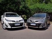 Prueba nuevo Toyota Yaris 5P manual y sedán automático