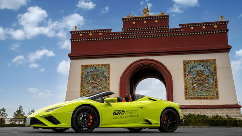 Lamborghini Esperienza Giro 2021, 42 toros paseando por China