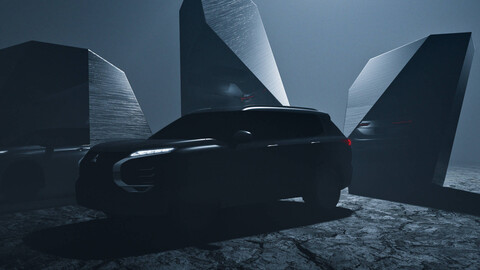 Teaser nos muestra el futuro de la Mitsubishi Outlander