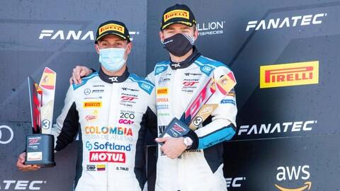 Óscar Tunjo cerró con podio su participación en el Campeonato Sprint del GTW Challenge Europe
