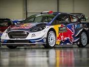 Ford Fiesta WRC 2017, con los colores de Red Bull