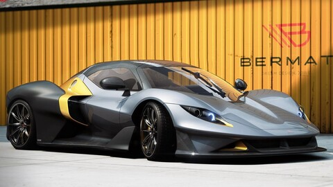 Bermat GT es un súper auto disponible en versión eléctrica, a gasolina o de carreras