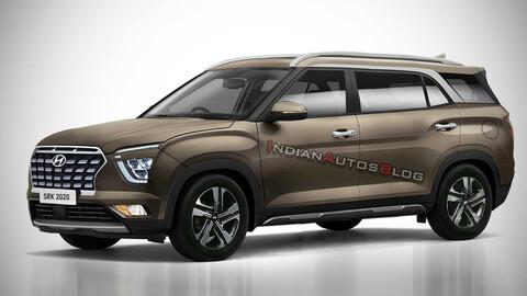 Hyundai Alcazar, así sería una Creta para siete pasajeros