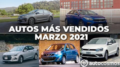 Los 10 autos más vendidos en marzo 2021