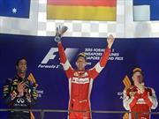 F1 GP de Singapur, Vettel y Ferrari iluminados